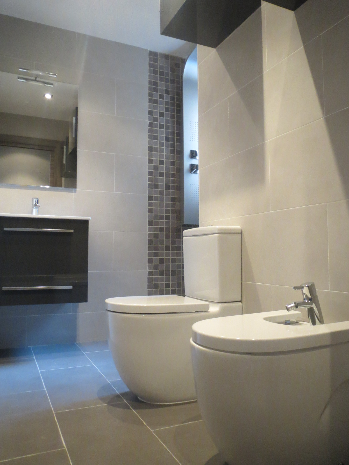 Baño Reformado Ducha:Reforma de baños