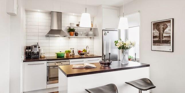 Distribuciones y almacenaje para la cocina grupo for Cocinas pequenas blancas modernas