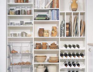 capacidad de almacenaje en la cocina