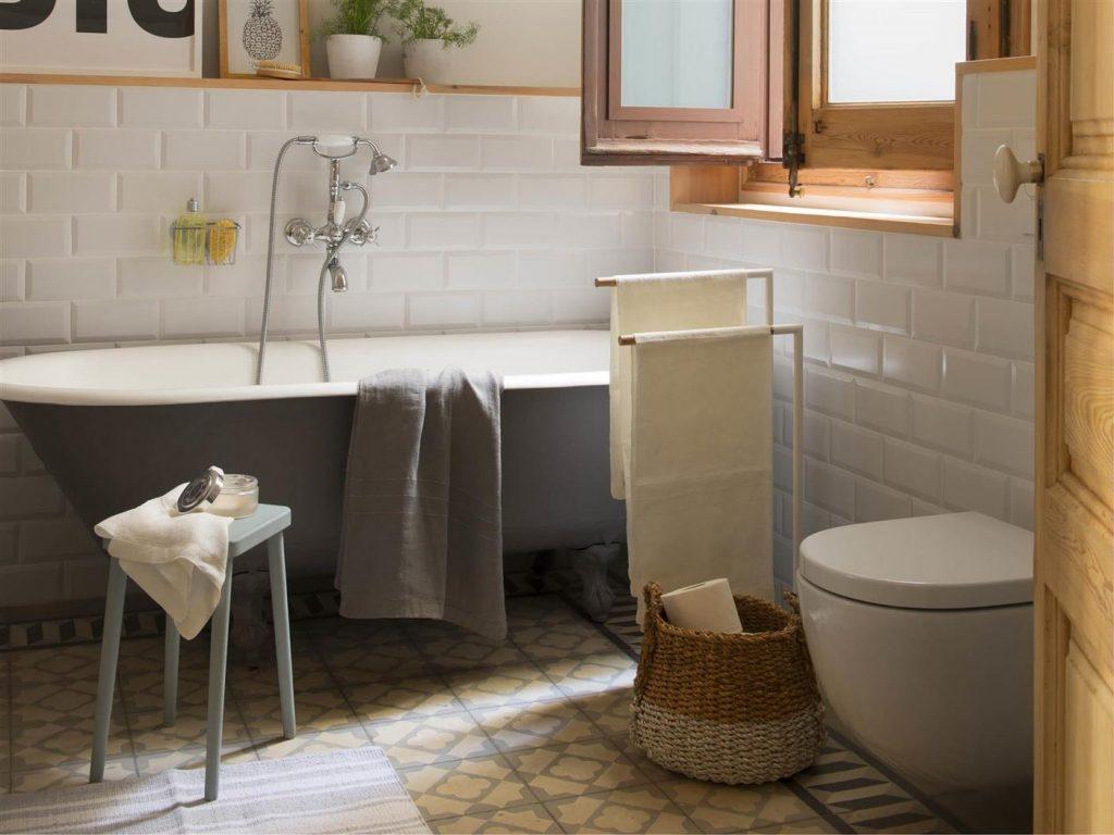 azulejos tipo metro baño