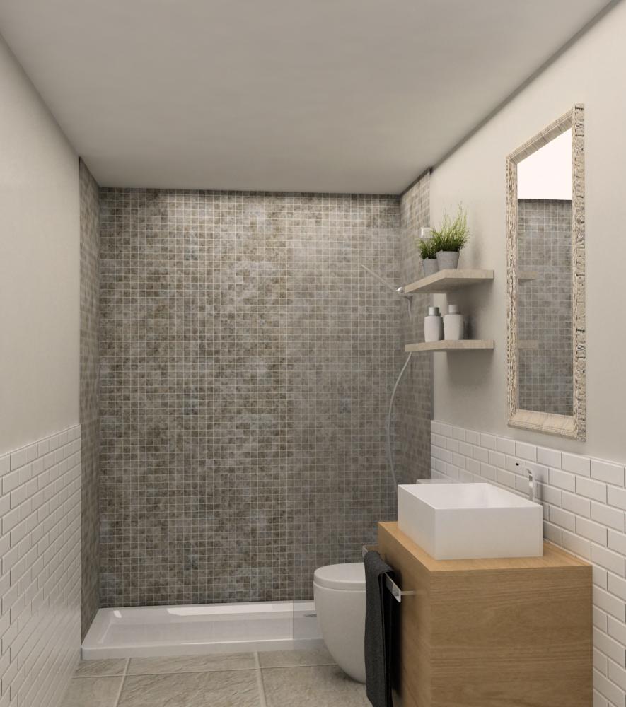Reforma Baño Muy Pequeno:Proyecto de baños y cocina en calle Melcior Palau – Grupo Inventia
